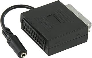 KnnX 28059 - Prise Péritel Femelle vers Femelle - Adaptateur Coupleur Euroconnector Extenseur - Connecte Deux câbles Ensemble