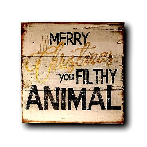 merry christmas you filthy animal sign home alone quote christmas decor - Merry Christmas You Filthy Animal
