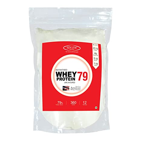 Sinew Nutrition Raw Whey Protein Concentrate 79%, 360 g (Unflavoured)