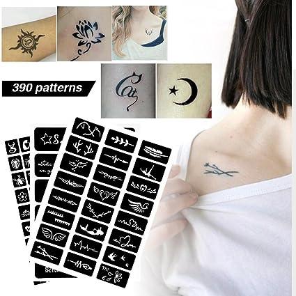 Modelo de plantilla de tatuaje, Modelo de aerógrafo para tatuaje ...