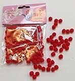 Red Pom Poms 7mm - 100 pack