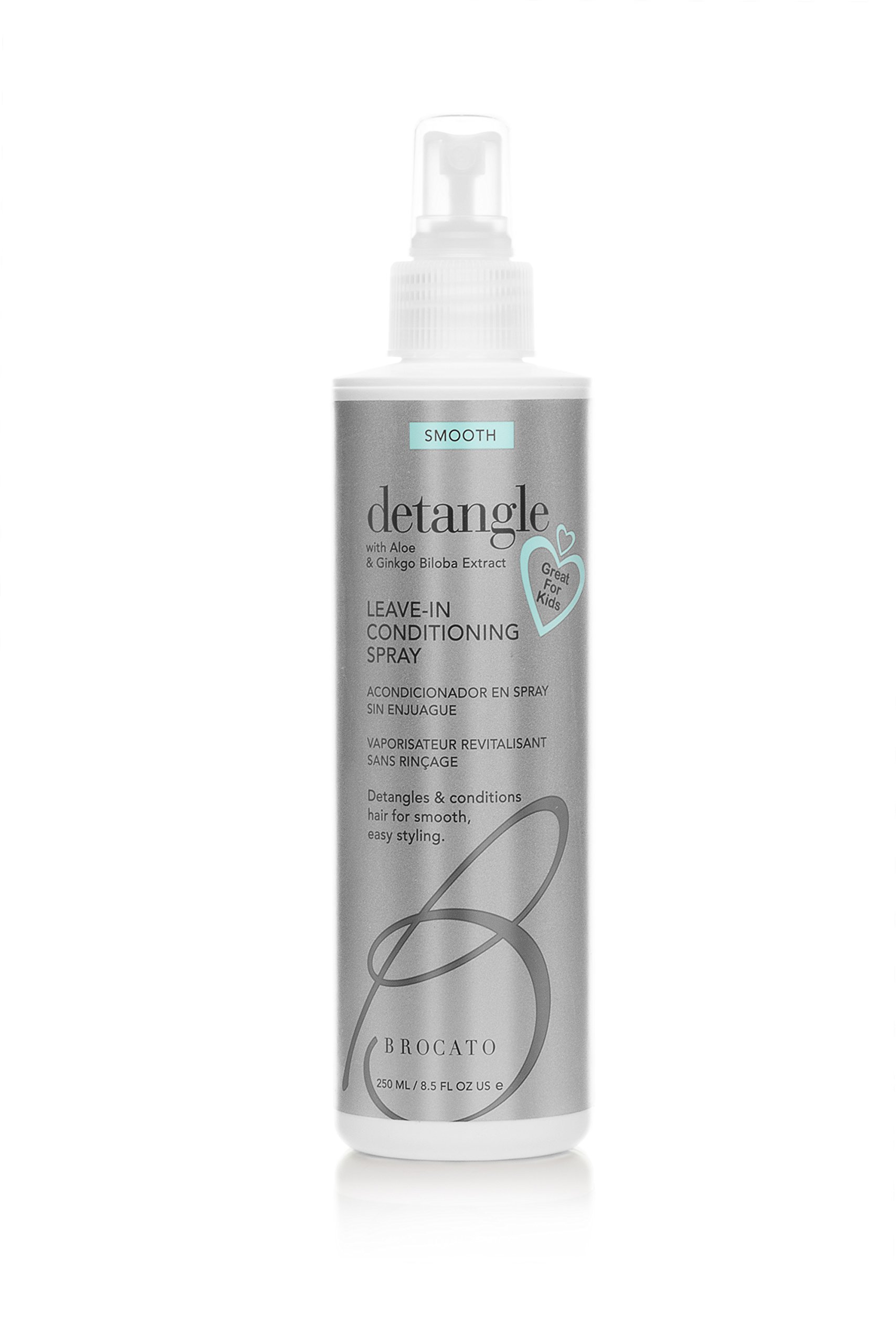 Brocato Detangle Leave In Conditioner Spray: Hair Detangler & Conditioning Spray for Women to Smooth Hair, Tame Frizz & Provide Sun & Heat Protection - Detangling Products for All Hair Types - 8.5 Oz