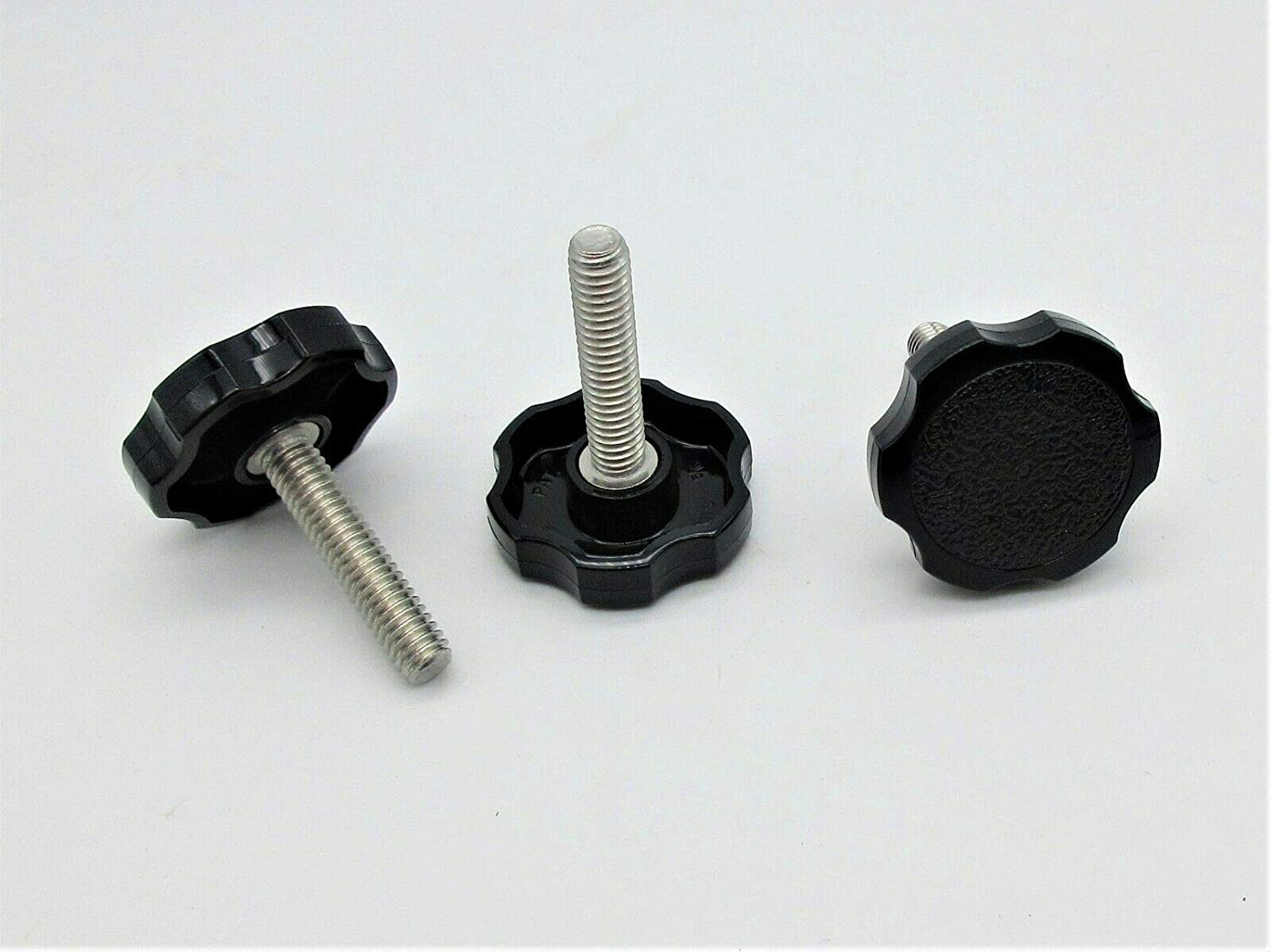 5//16 Fine Thread Clamping Knobs w//Large Fluted Head SS #TNM12