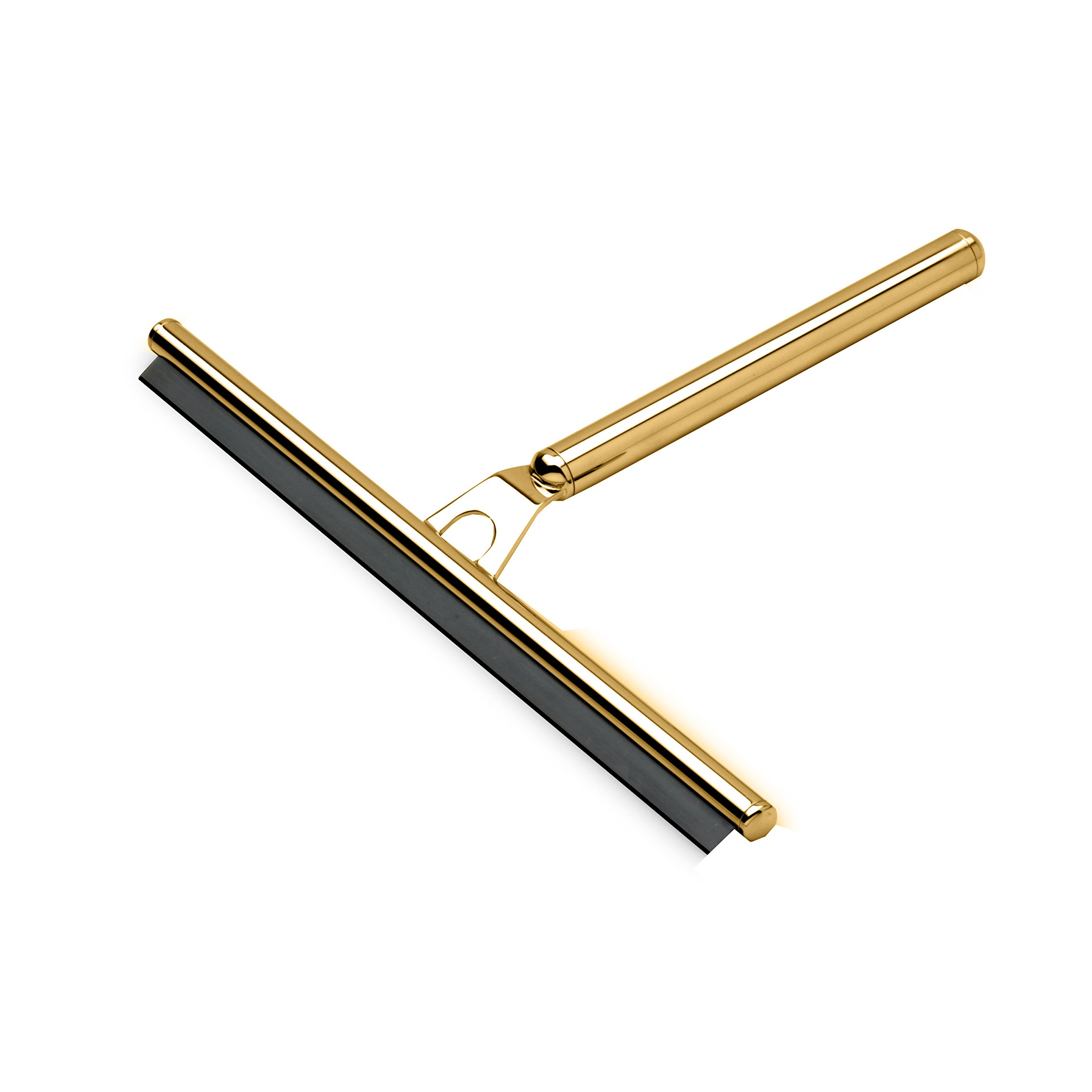 W-Luxury Round Wiper Blade Squeegee for Shower Glass, Windows, Brass (Polished Gold) by W-Luxury (Image #1)