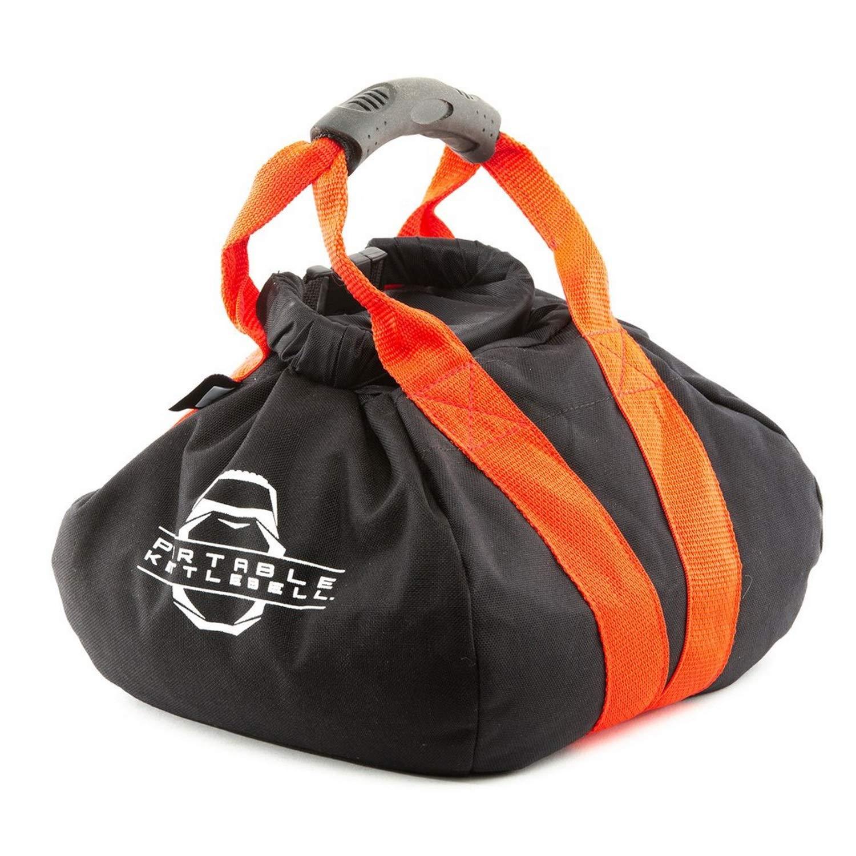 PKB PORTABLE KETTLEBELLS 0-30 lbs: The Original Sandbag Kettlebell - Crossfit, Travel, Yoga, Home Workout Sandbag Training Equipment Fully Adjustable Kettlebell Weights - Red 30lbs