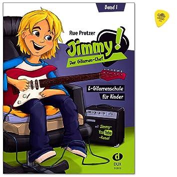 Jimmy, le chef est une guitare électrique école de guitare de Rue protzer pour enfants