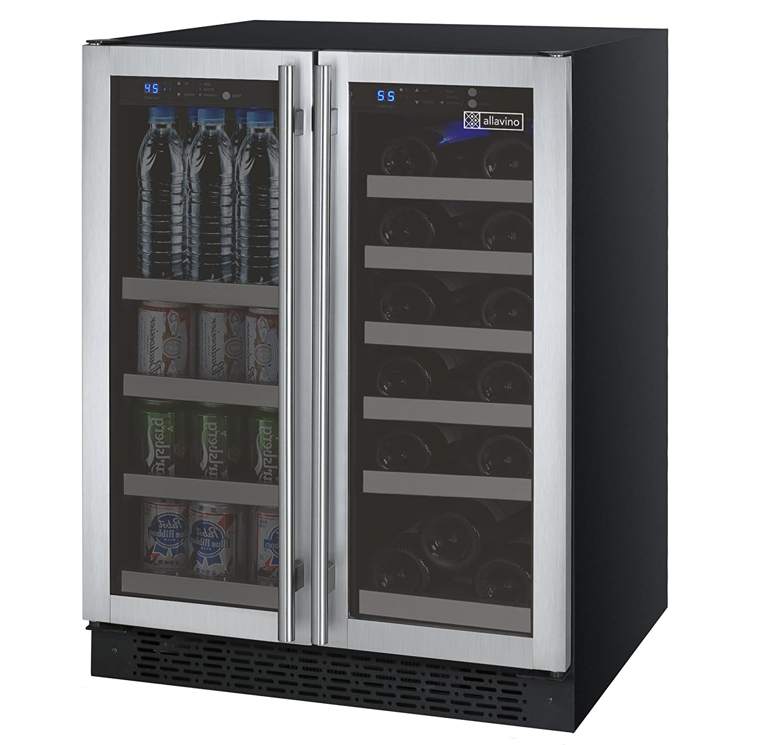 dual zone appliances whirlpool countertops lowes wine steel refrigerator at chiller web chillers com bottle beverage cooling pl shop countertop centers coolers stainless original tif