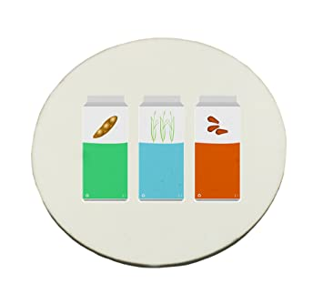 Vegan leche, almendras arroz y soya. Round alfombrilla de ratón: Amazon.es: Electrónica