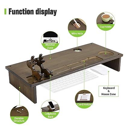 Mesa para port/átiles de Aluminio Resistente Soporte para rat/ón Adaptable a Cama Suelo Plegable Ajustable hasta 180/º sof/á Mesa