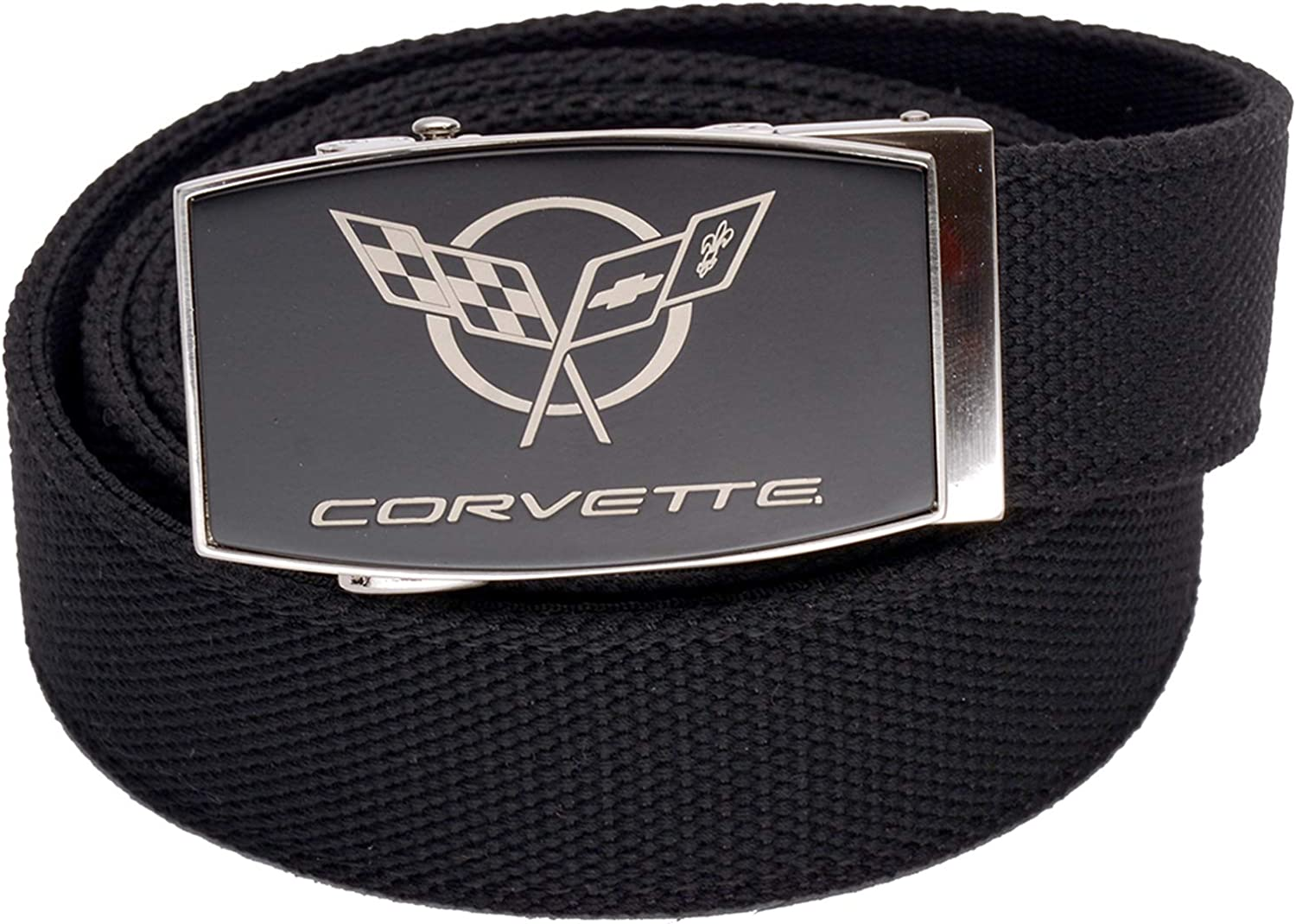 Nexbelt Corvette C5 Black Buckle Aston Black Belt