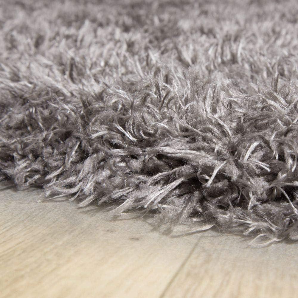 Dimensione:80x120 cm Tappeto XXL Pelo Lungo Ecopelliccia Orso Bianco Flokati Pregiato Antracite