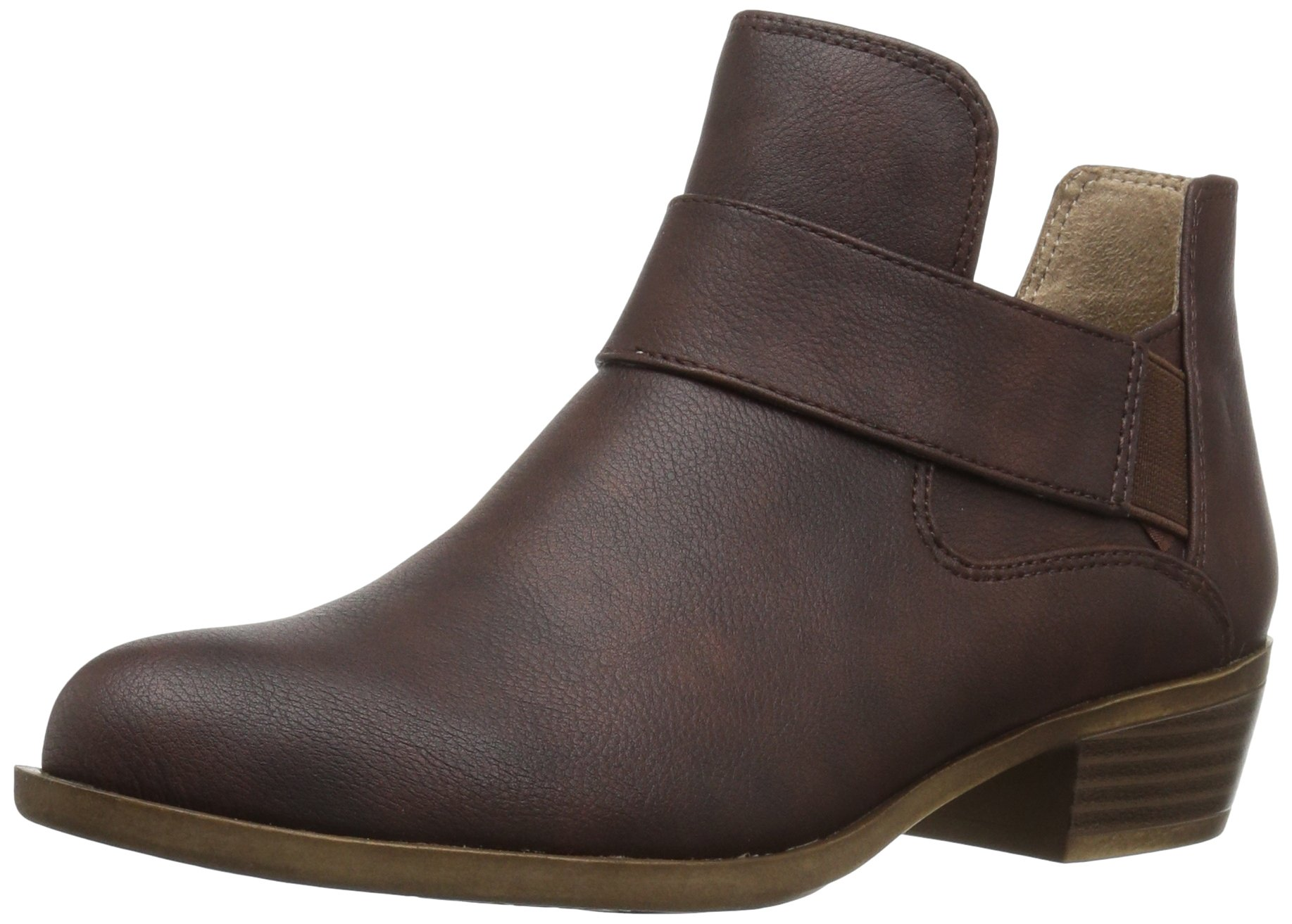 LifeStride Women's Able Ankle Bootie, Brown, 6.5 W US