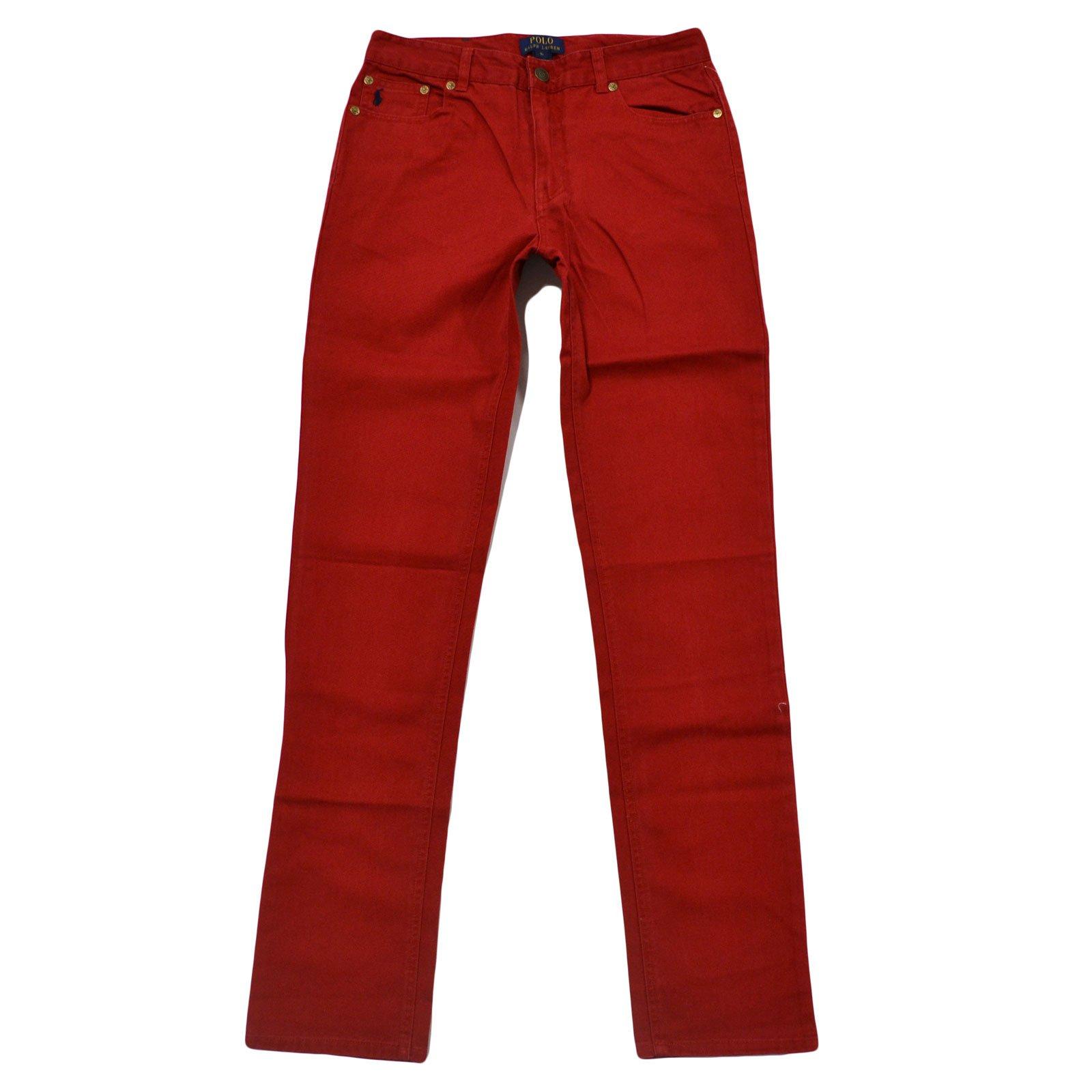 Polo Ralph Lauren Big Boys Authentic Dungarees (Camden Red, 12)