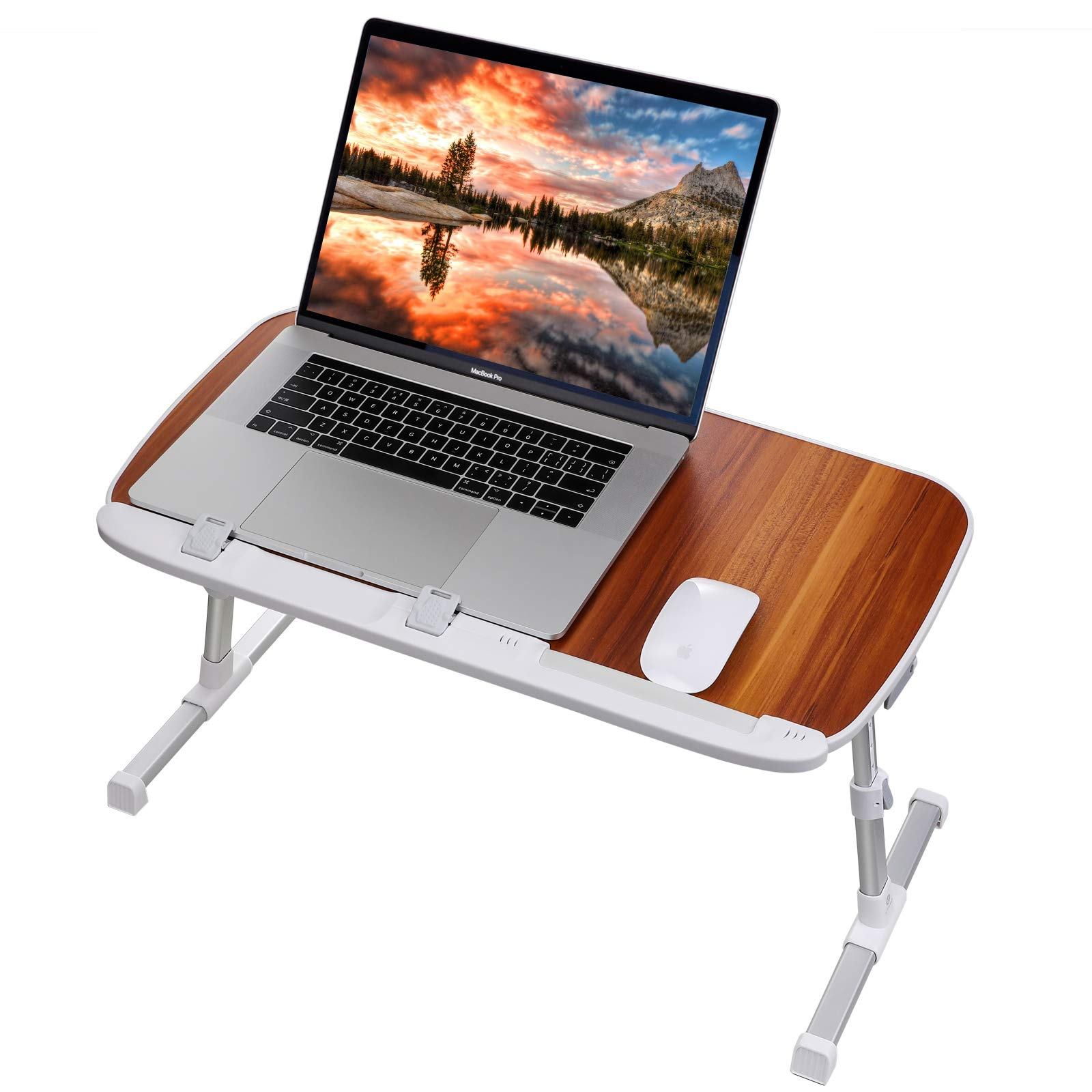 Laptop Table for Bed, Utaxo Laptop Computer Stand, Laptop Bed Desk, Bed Laptop Tray, Angle and Height Adjustable Laptop Notebook Holder