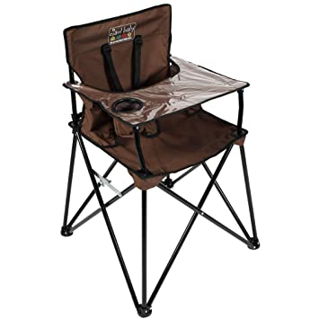 Amazing Ciao Baby Portable High Chair For Travel Fold Up High Chair With Tray Chocolate Andrewgaddart Wooden Chair Designs For Living Room Andrewgaddartcom