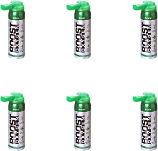 product image for Boost Oxygen Supplemental Oxygen to Go | All-Natural Respiratory Support for Health, Wellness, Performance, Recovery and Altitude (2 Liter Canister, 6 Pack, Natural)