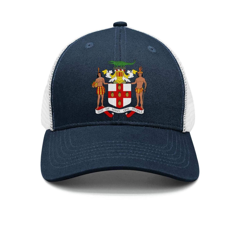 Adult Baseball Cap Gambia National Emblem Adjustable Sandwich Mesh Cap Hats