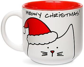 """cup mug """"meowy christmas!"""""""