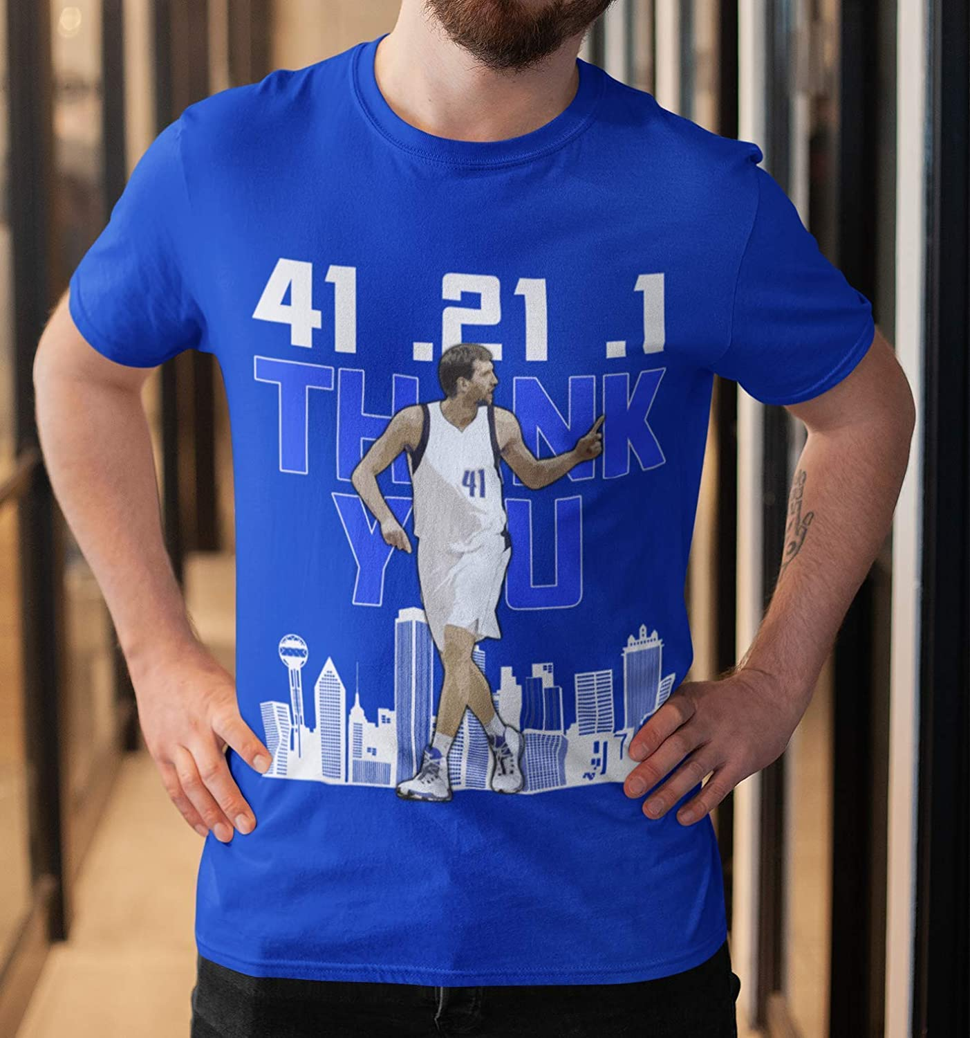 new product f2ee5 daa82 Amazon.com: Dirk-Nowitzki Basketball Jersey 41.21.1 ...