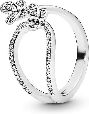 anello pandora con farfalla