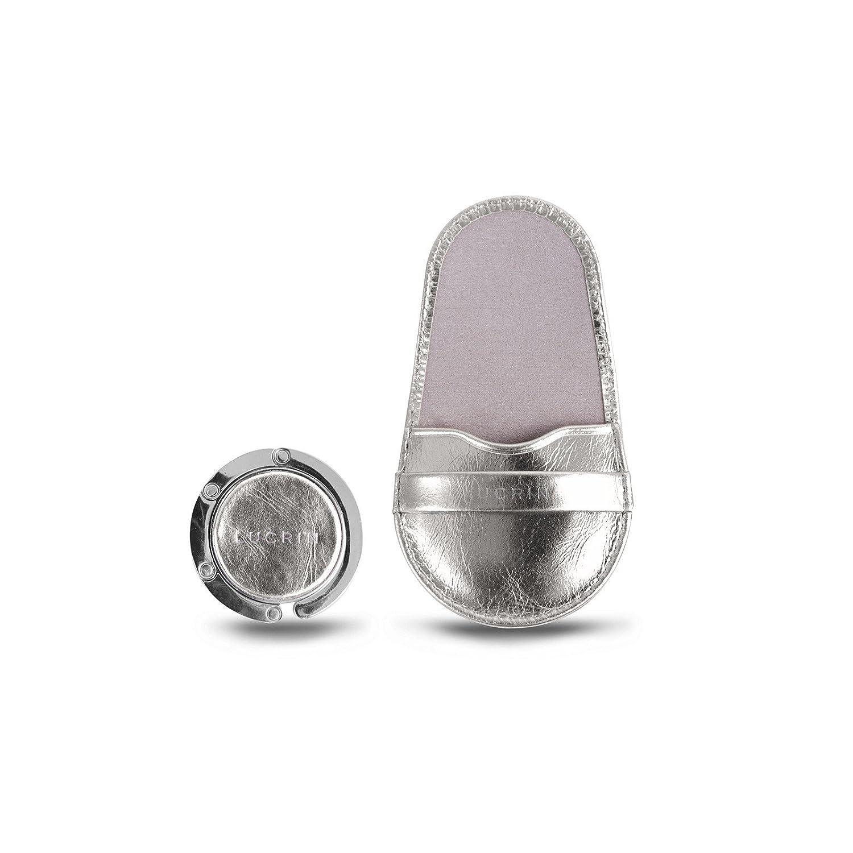 Lucrin - Taschenhalter - Silber - Glänzendes Leder