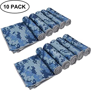 """Biange Microfiber Sports & Cooling Towel (40""""x12"""") - Fast Dry, Chill, Lightweight, Absorbent, Compact, Yoga Fitness Camping Gym Towels (Camouflage)"""