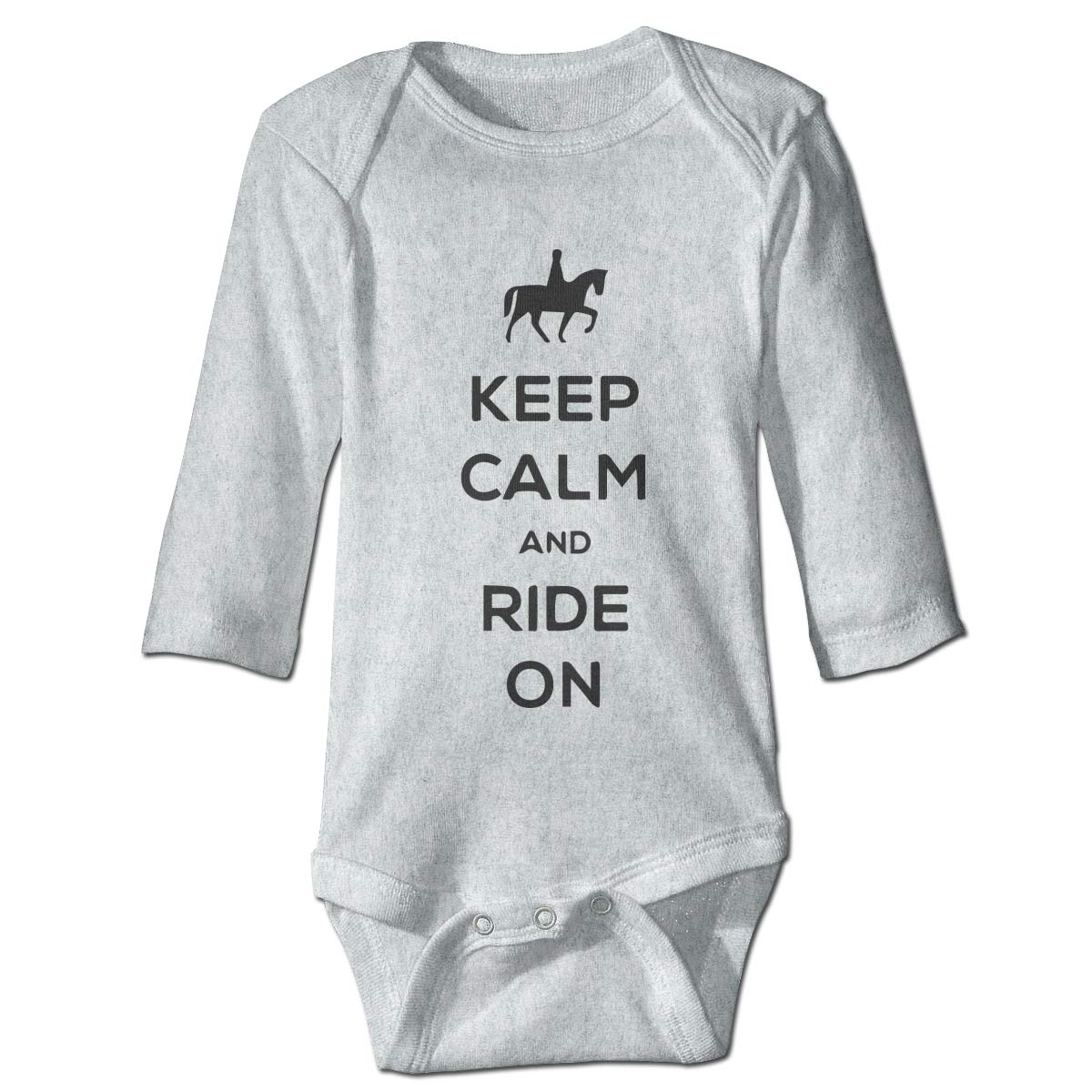Baby Infant Toddler Romper Bodysuit Jumpsuit Keep Calm and Ride On 1 Long Sleeve Funny Romper Bodysuit