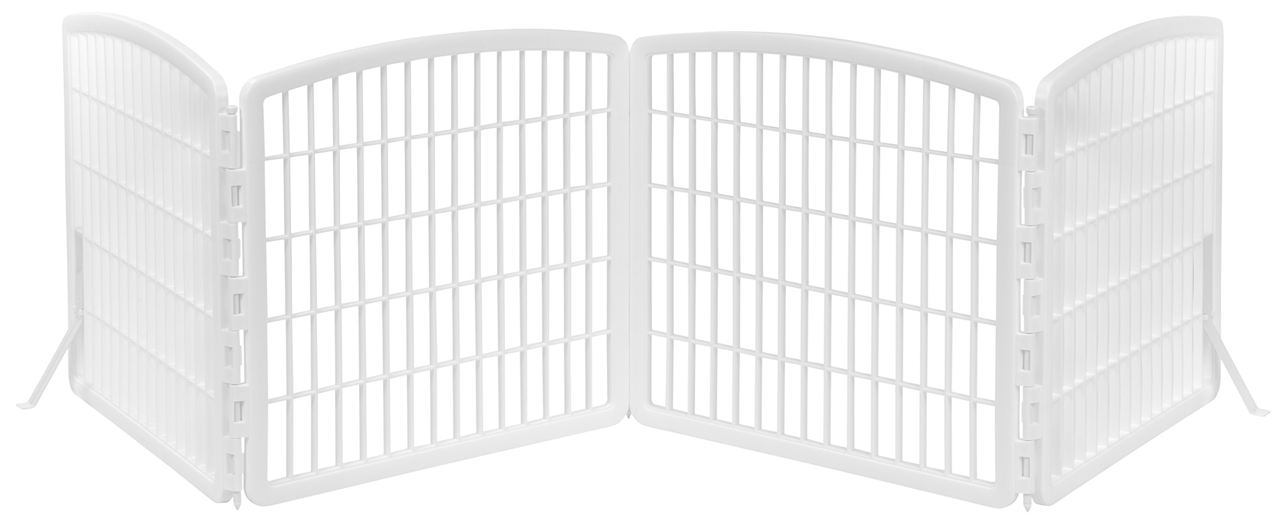 IRIS Indoor Plastic Pet Fence, White