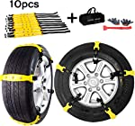 Aiung Tire Snow Chains, Emergency Anti Slip Snow Tire Chains for