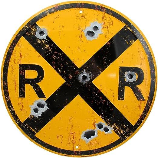 Amazon.com: Cartel de cruz, diseño de ferrocarril vintage ...
