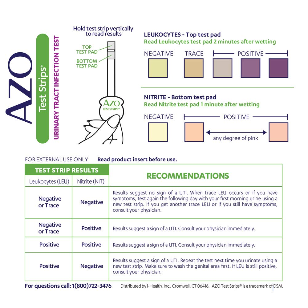 AZO Urinary Tract Infection (UTI) Test Strips | Accurate Results in 2  Minutes | Clinically Tested | Easy to