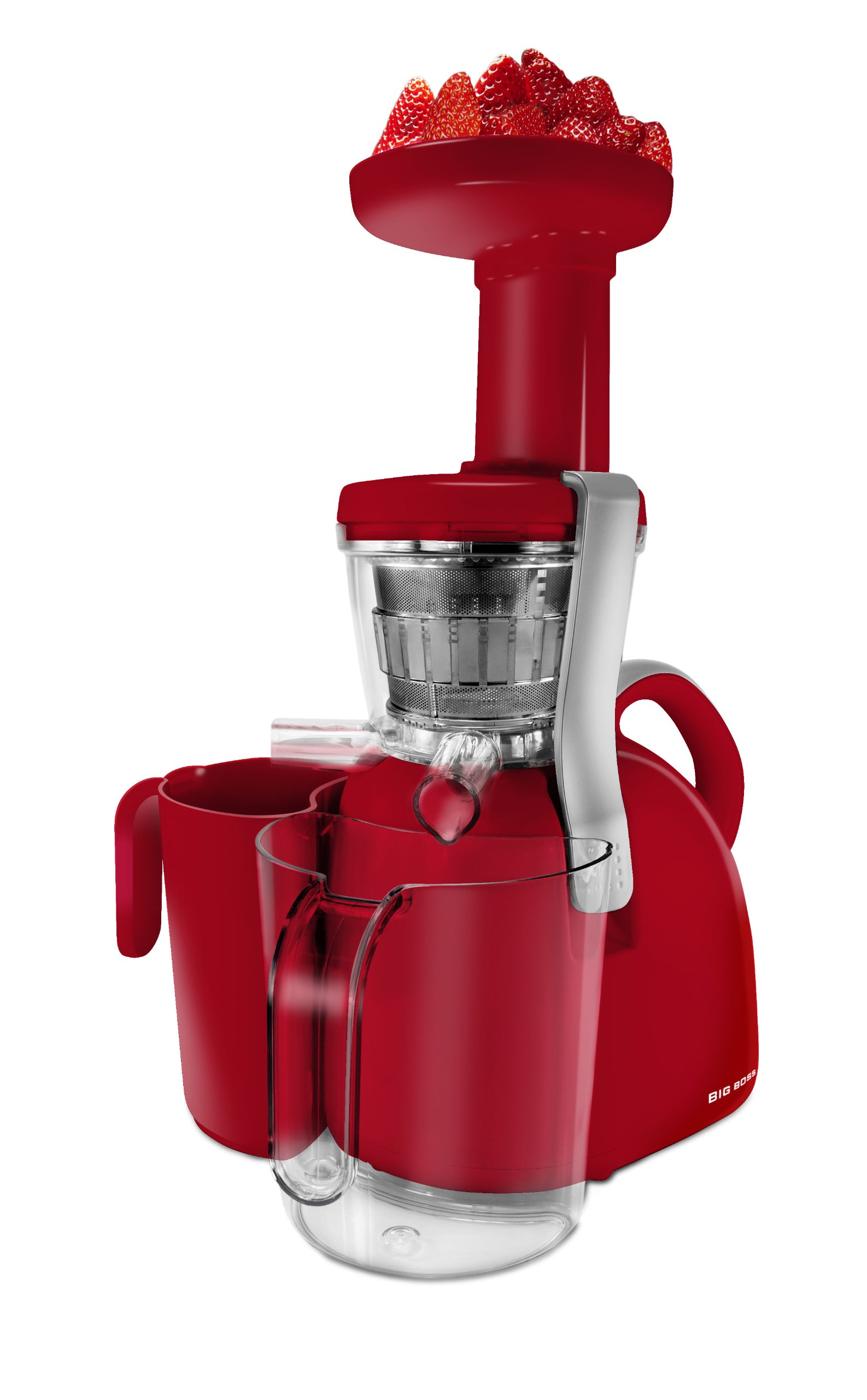 Big Boss 9177 Nutritionally Beneficial Slow Juicer, Red
