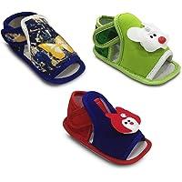 Tavish 3-10 Months Baby Boy & Girl Prewalker Sandals   Shoes   Booties with Anti-Slip Sole - Combo of 3
