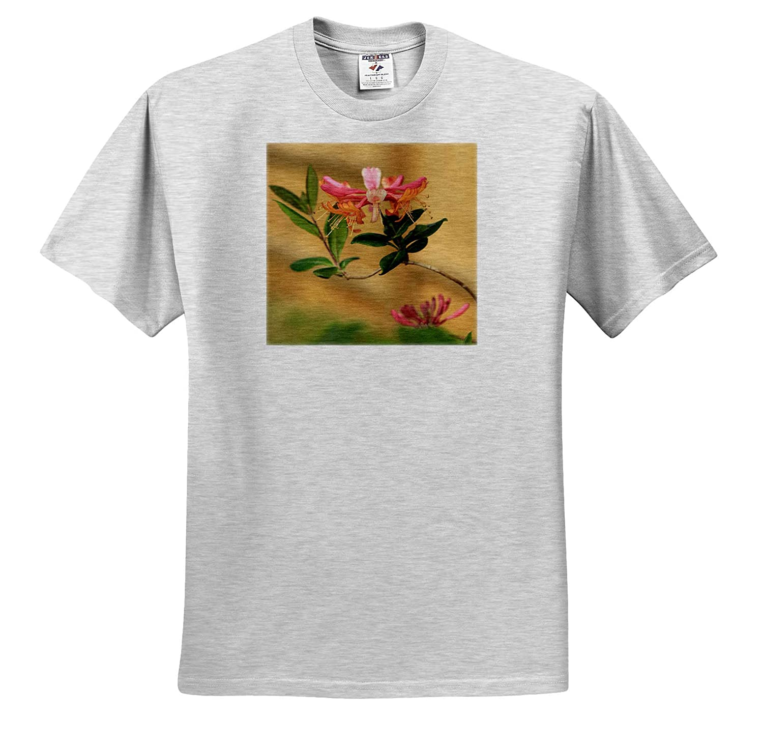 Flowers Photograph of Firecracker Honeysuckle from Our Garden in Full Bloom 3dRose Stamp City - T-Shirts