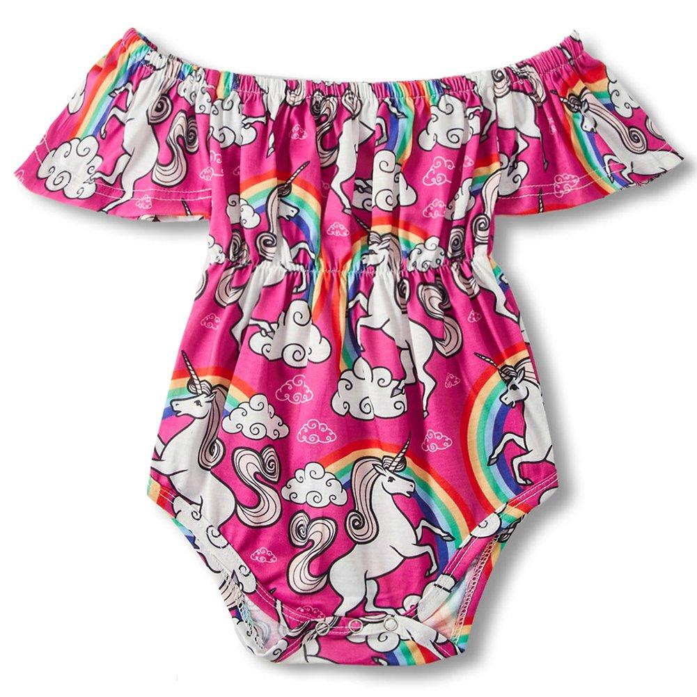 1-2 Years Child Little Kids Cotton Jumpsuit Rainbow