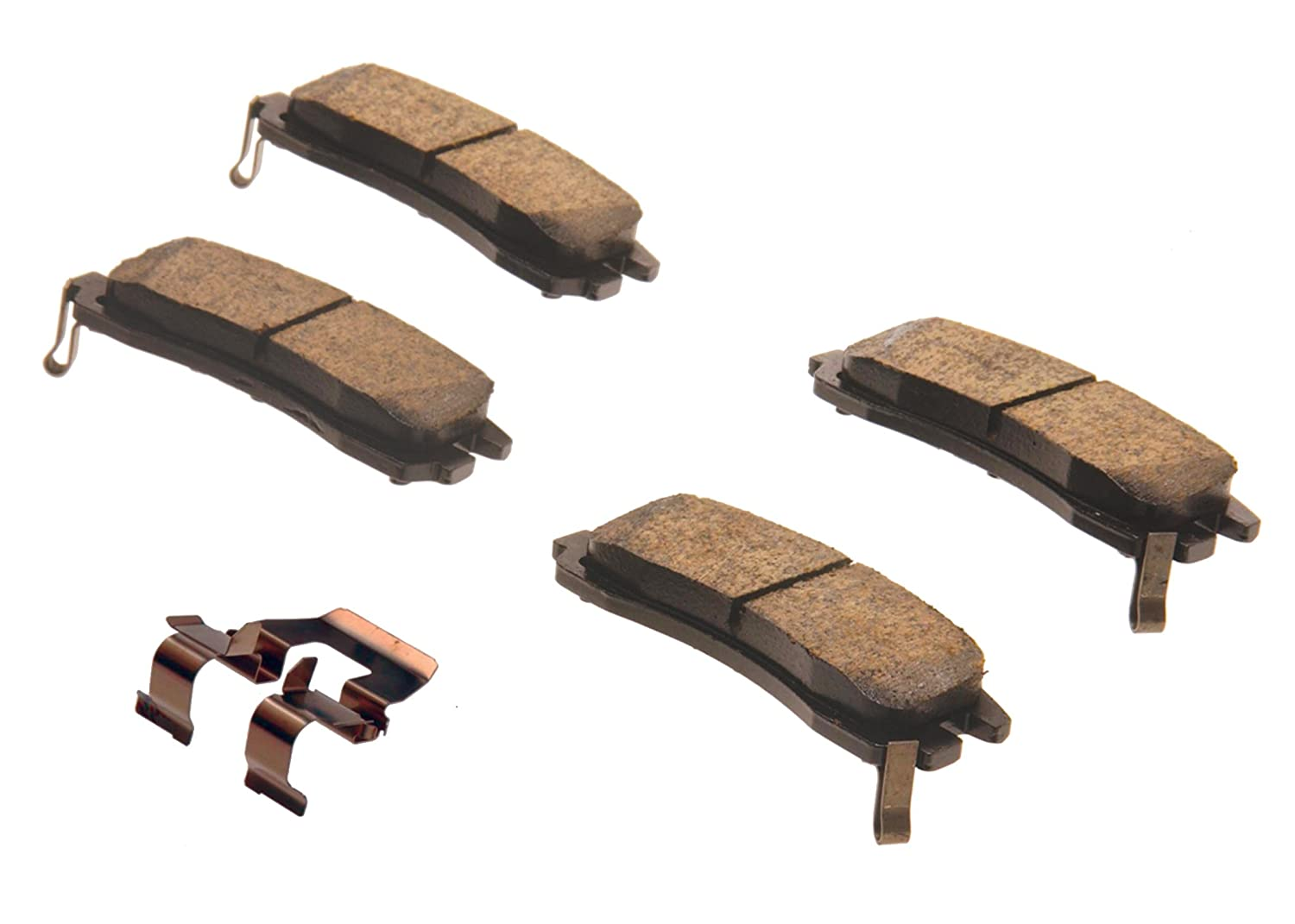 ACDelco 171-640 GM Original Equipment Rear Disc Brake Pad Kit with Brake Pads and Clip