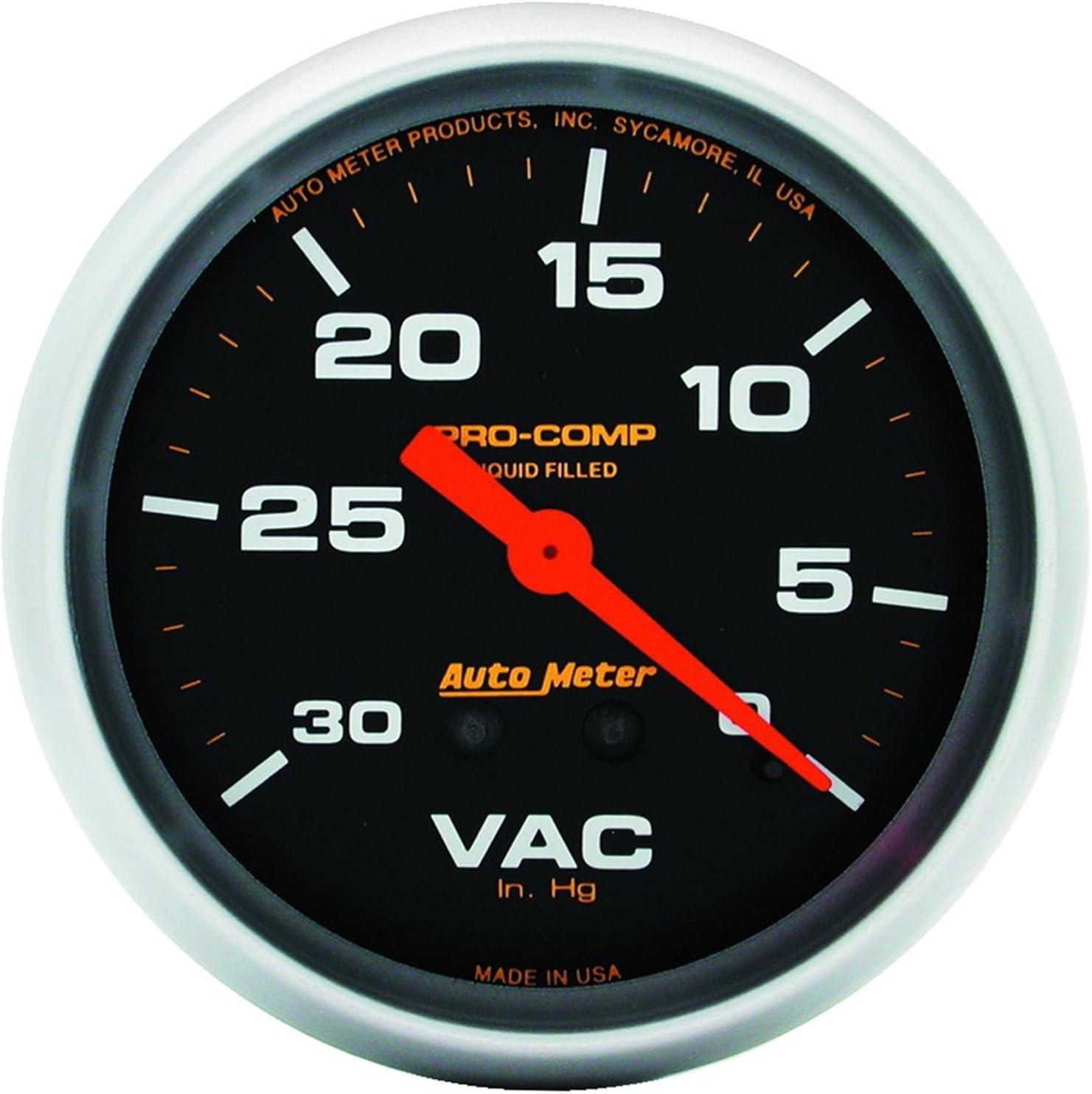 Auto Meter 5484 Pro-Comp Liquid-Filled Mechanical Vacuum Gauge