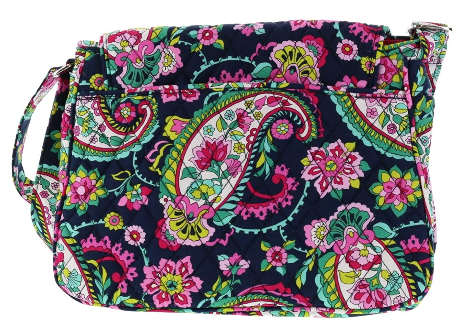 Vera Bradley Medium Flap Crossbody Messenger Bag Shoulder Bag in Petal Paisley