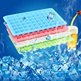 Mziart Easy Release Mini Ice Cube Trays, 60 Diamond Shaped Cubes Maker, Stackable (Pack of 4)