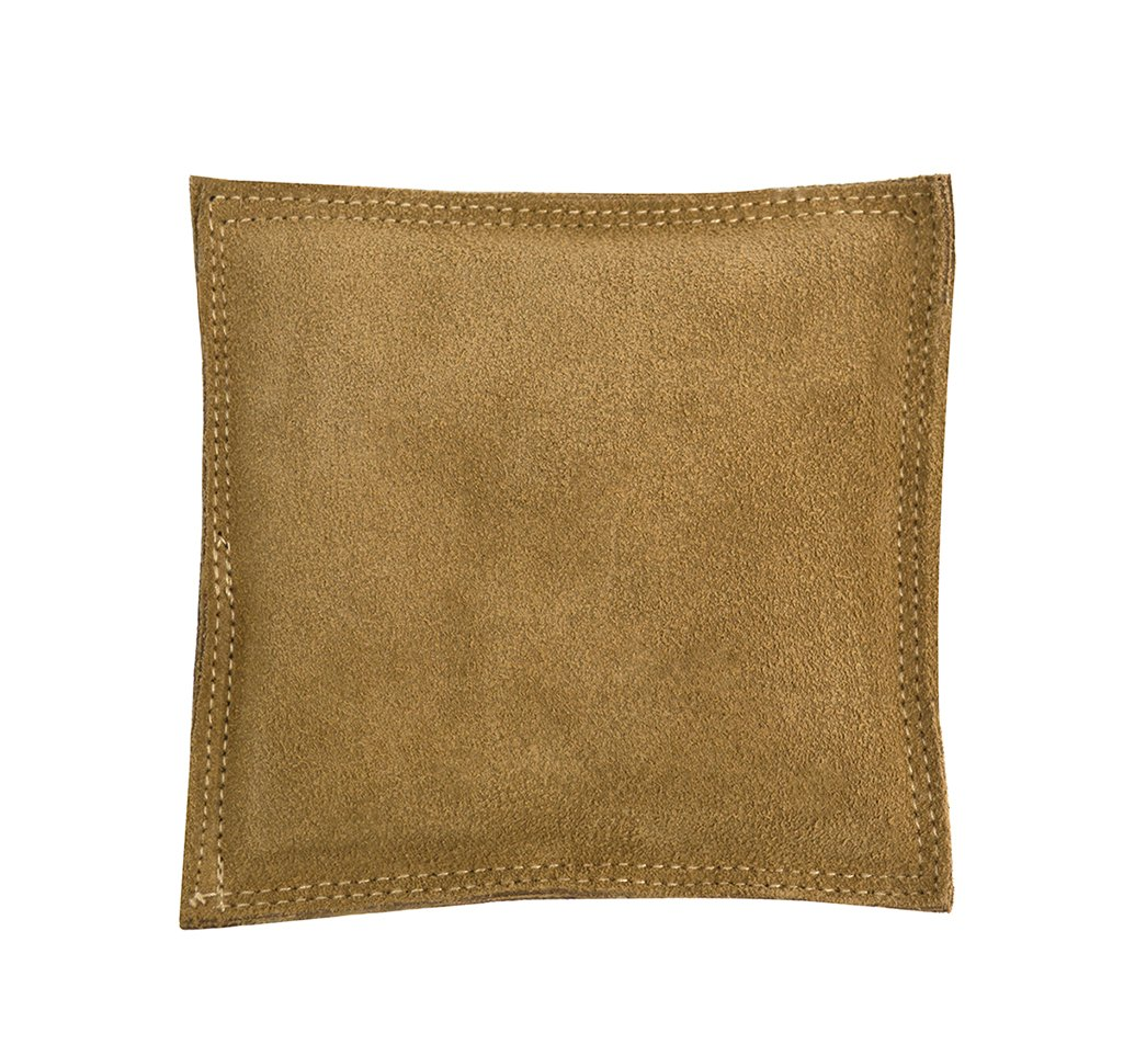 5'' Square Leather Sandbag Cushion for Metal Dapping Stamping Hammering Chasing Forming Jewelry Tool Work Surface by PMC Supplies LLC