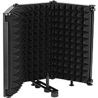 Tomshin Escudo de isolamento de microfone de mesa portátil Filtro de reflexão de espuma de absorção de som Mic Escudo à…