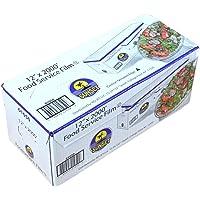 "Plastic Food Film Seal Wrap in Cutter Dispenser, Stretch Tight, Food Service Grade, 12"" x 2000' Square Feet Roll"