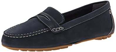Rockport Women's Cambridge Boulevard Comfort Penny New Dress Blues Nubuck  Wash 10 M