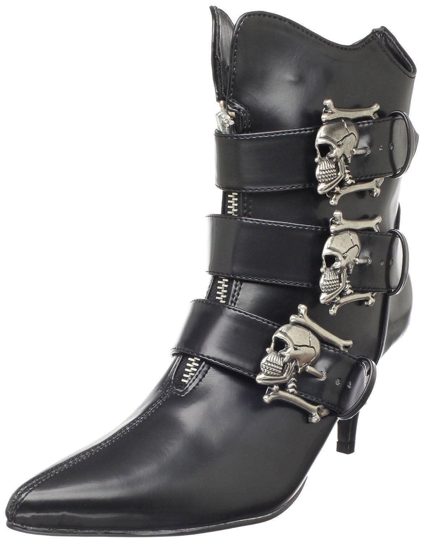 Demonia Pleaser Women's Fury-06 Ankle Boot Black Nappa Pu