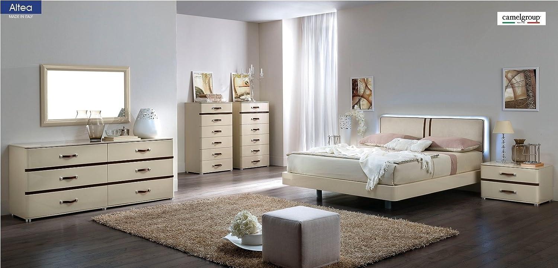 Amazon.com: ESF Altea Modern Italian Bedroom Set Camelgroup ...