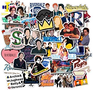 Riverdale Stickers for Water Bottles 50 Pcs Cute,Waterproof,Aesthetic,Trendy Stickers for Teens,Girls Perfect for Waterbottle,Laptop,Phone,Travel Extra Durable Vinyl