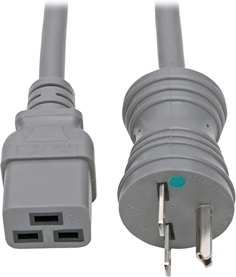 Iron Box Part # IBX-6151 6 ft, Molded AC Power Cord 6-15P to C19 12//3 AWG 15A//250V