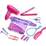 Amazon Com Minnie Mouse Beauty Set Real Hair Dryer Sound
