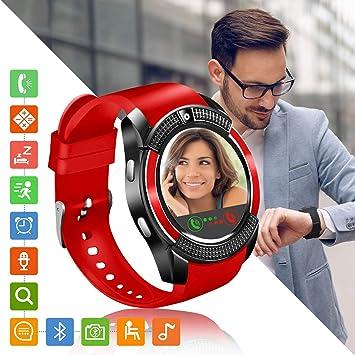 Smartwatch, Reloj Inteligente con Ranura para Tarjeta SIM Cámara ...