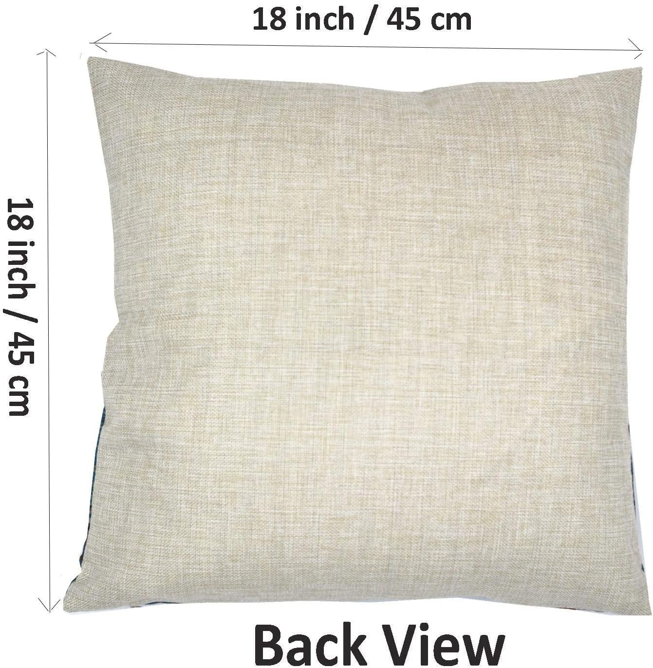 MOZEEDA Set of 4 Christmas Pillow Covers Festival Decorations Pillow Covers Decoration Sofa Linen Pillow Case Home Decor Gifts 4PC 18 x 18 in